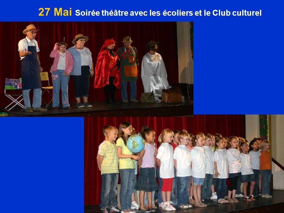 27 Mai Soirée théâtre avec les écoliers et le Club culturel
