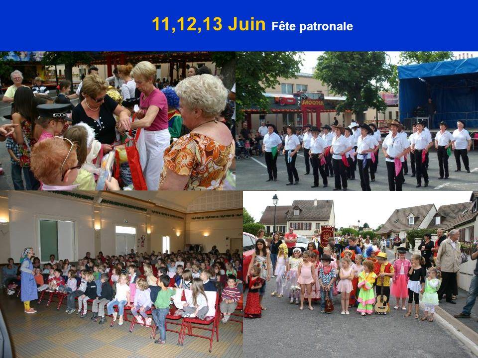 11,12,13 Juin Fête patronale