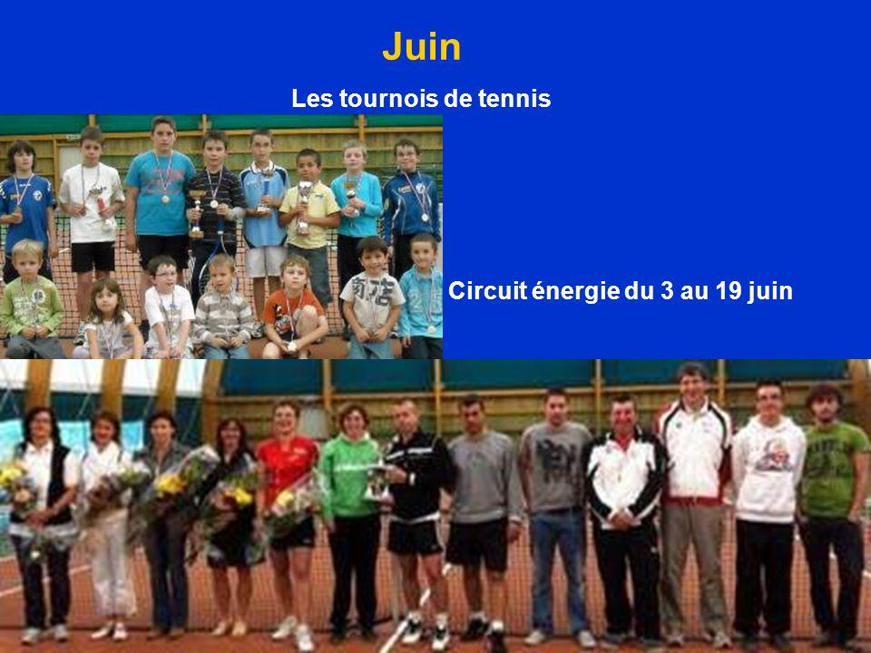 Circuit énergie du 3 au 19 juin Juin Les tournois de tennis
