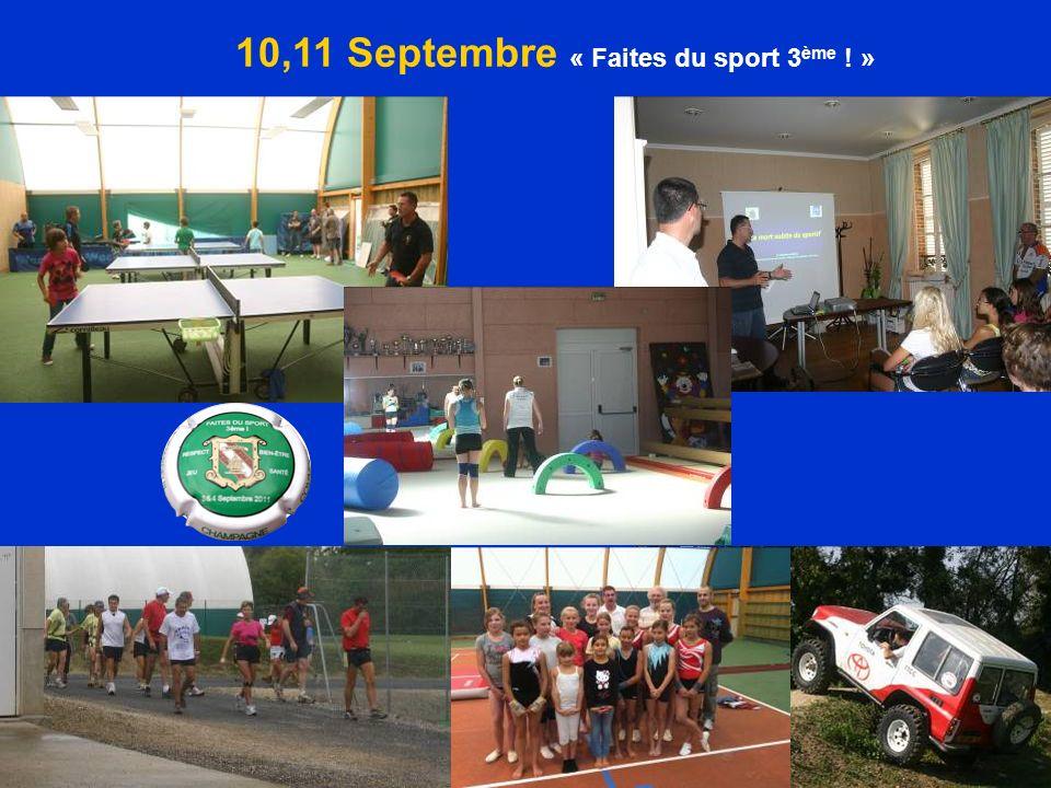 10,11 Septembre « Faites du sport 3 ème ! »