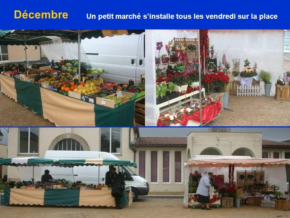 Un petit marché sinstalle tous les vendredi sur la place Décembre
