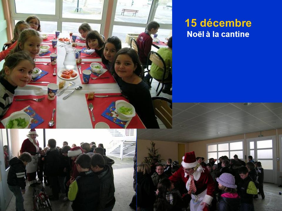 15 décembre Noël à la cantine