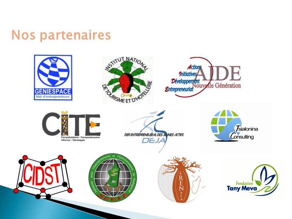 Le Consortium Département interdisciplinaire de formation professionnelle – Université dAntananarivo (Communication territoriale, communication pour le développement) ONG spécialisée dans le soutien et le développement de la communauté TIC (incubateur de startup, coworking space, évènementiel TIC, Formation TIC, Projet IT Park) A.IFE.M.