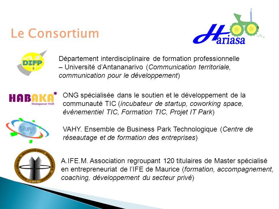 Le Consortium Département interdisciplinaire de formation professionnelle – Université dAntananarivo (Communication territoriale, communication pour l