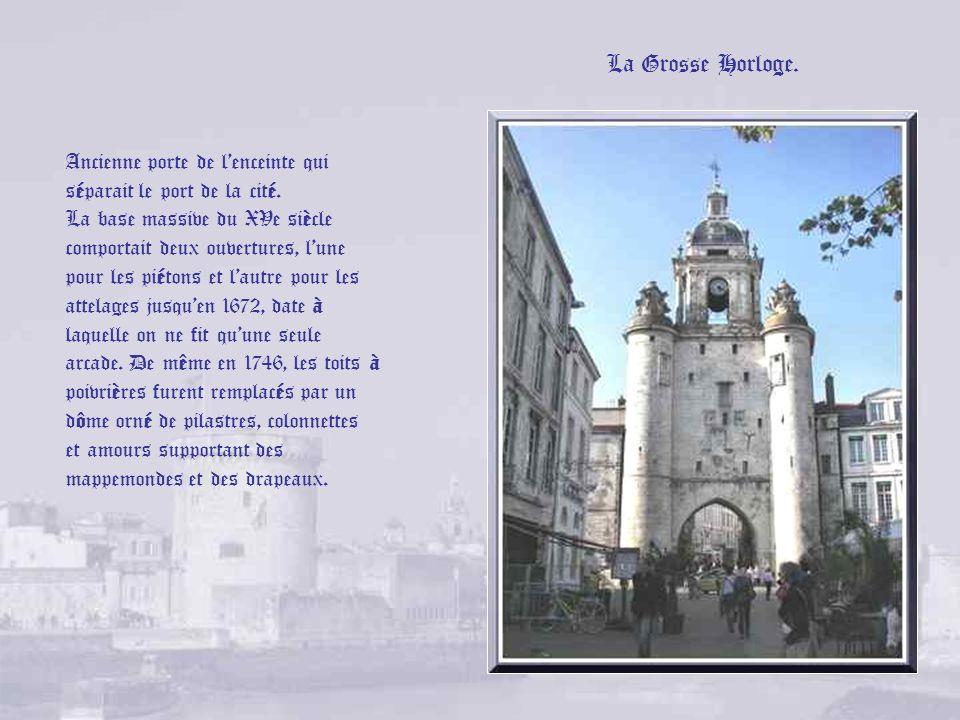 XVIIe siècle, XVIIIe siècle, le Nouveau Monde Très vite pourtant, La Rochelle se relève du drame que ce siège a engendré. Grâce au commerce maritime,