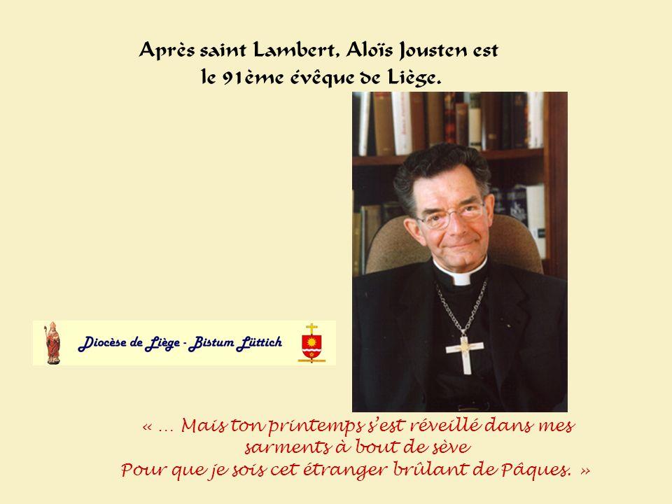 Alois Après saint Lambert, Aloïs Jousten est le 91ème évêque de Liège.