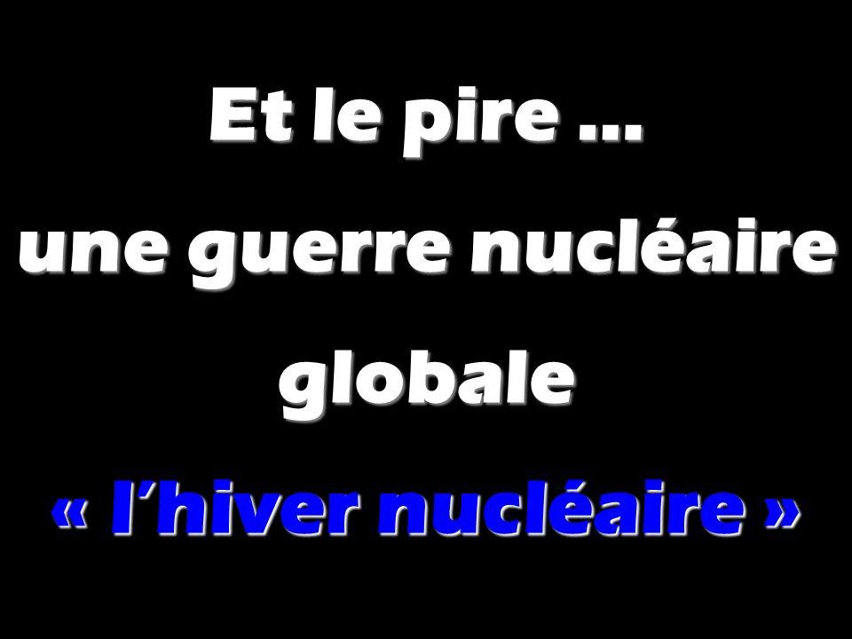 Et le pire … une guerre nucléaire globale « lhiver nucléaire »
