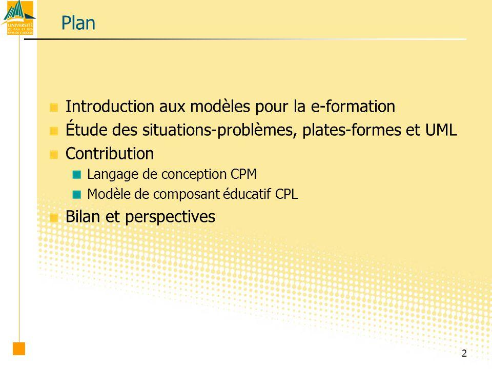 23 Le méta-modèle CPM : extraits CPM_StructuralPackage CPM_SocialPackage Context ActivityStructure inv: self.subStructure->forall( v | v.oclIsKindOf(ActivityStructure) or v.oclIsKindOf(Activity) ) Context ActivityStructure inv: self.subStructure->forall( v | v.oclIsKindOf(ActivityStructure) or v.oclIsKindOf(Activity) )