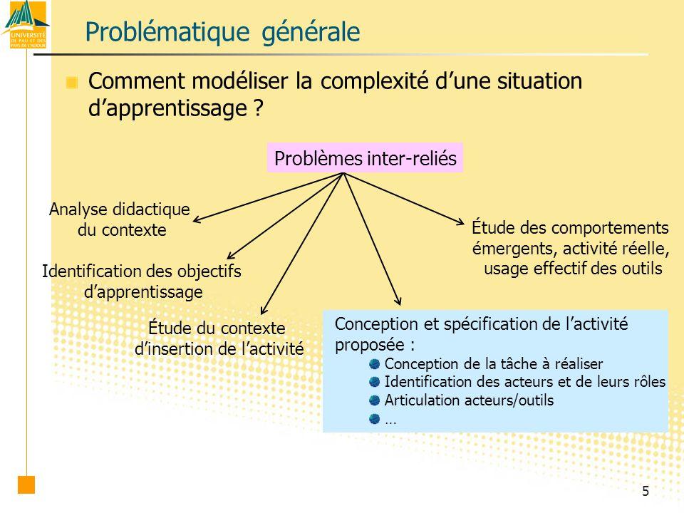 5 Problématique générale Comment modéliser la complexité dune situation dapprentissage .