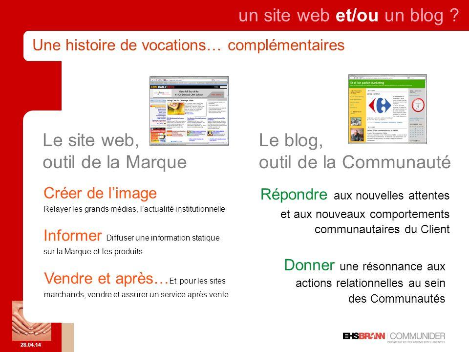 28.04.14 un site web et/ou un blog .
