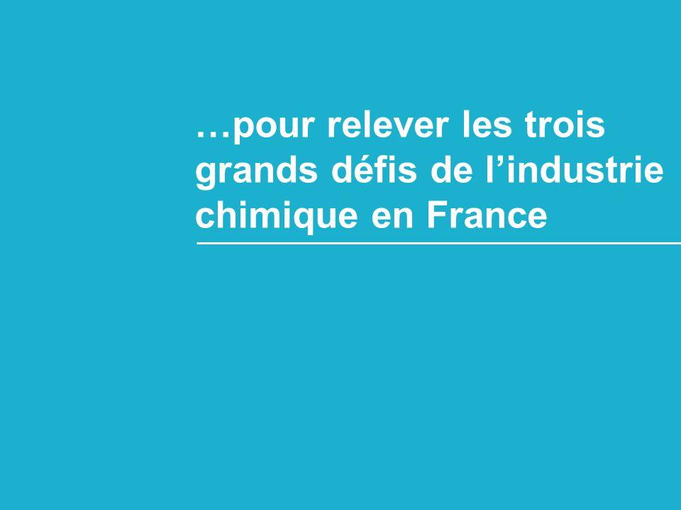…pour relever les trois grands défis de lindustrie chimique en France