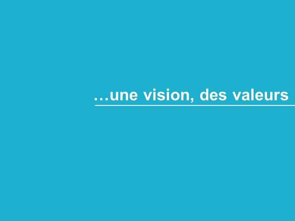 …une vision, des valeurs
