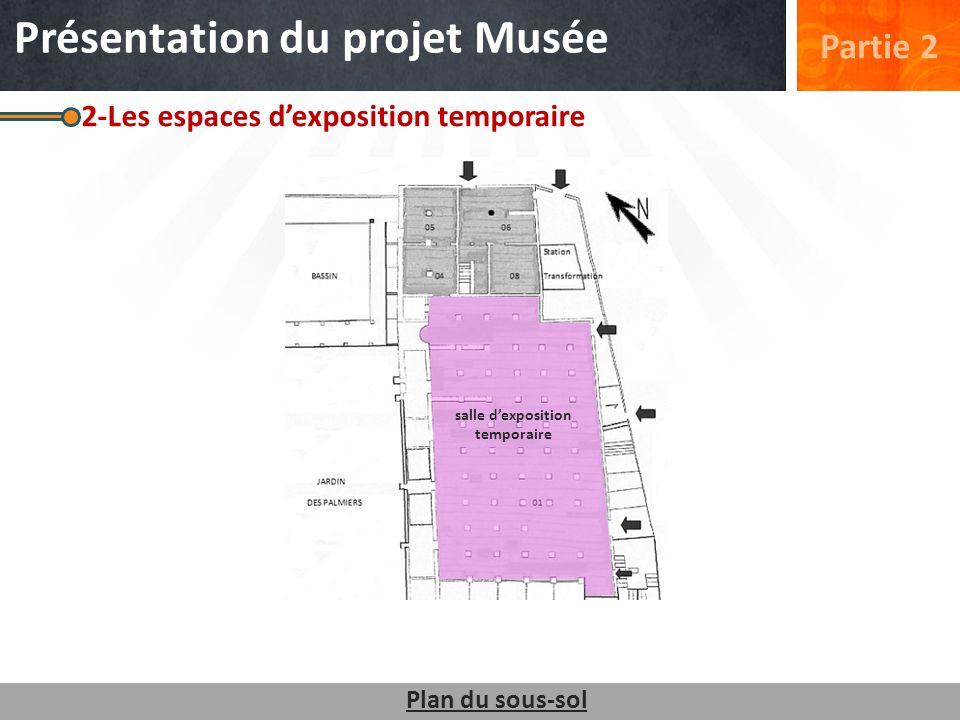 2-Les espaces dexposition temporaire Plan du sous-sol salle dexposition temporaire Partie 2 Présentation du projet Musée