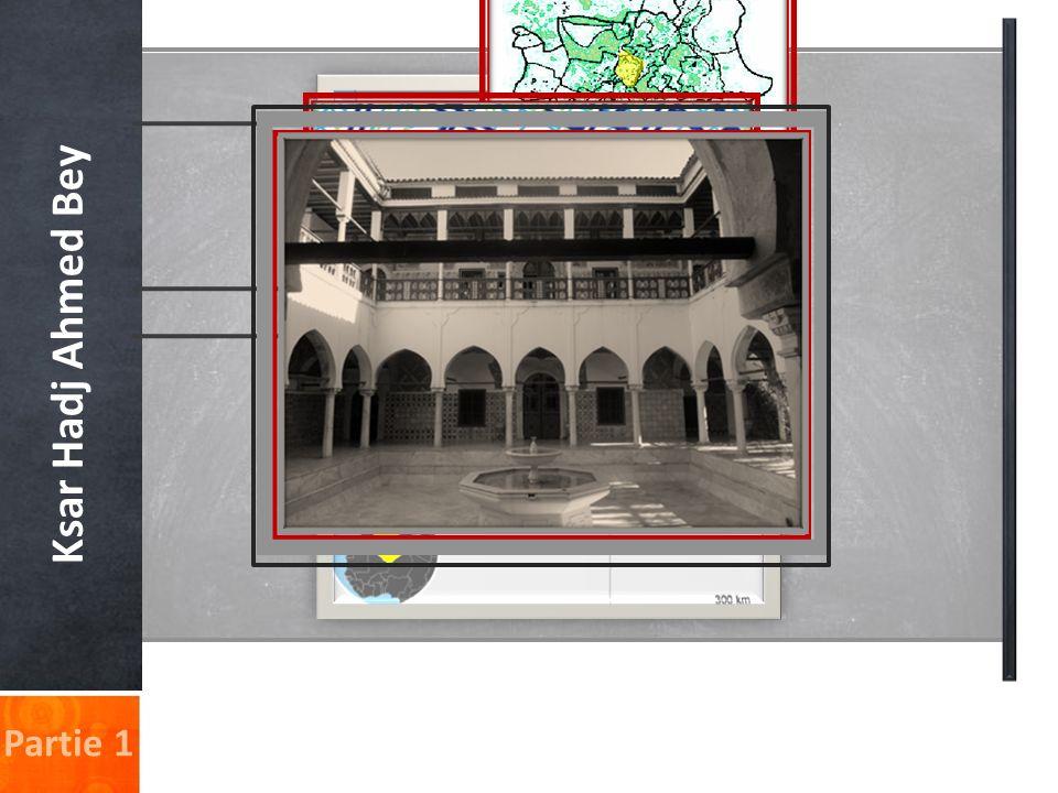 Ksar Hadj Ahmed Bey 1-Les collections in-situ Le Palais-Musée contient des collections architecturales et ornementales très riches et variées.
