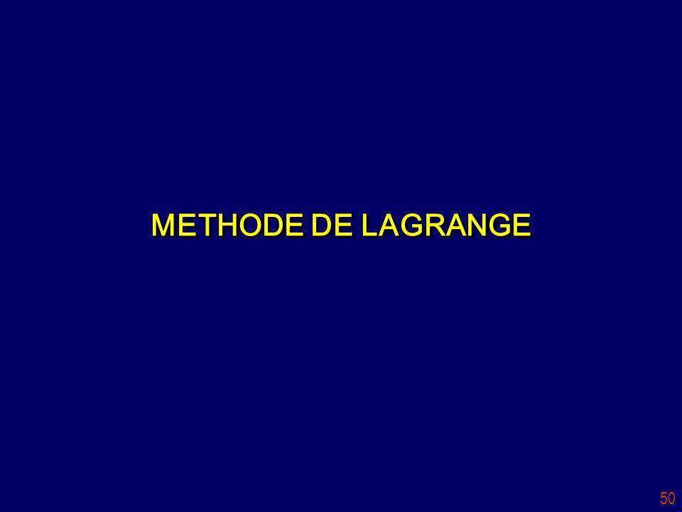50 METHODE DE LAGRANGE