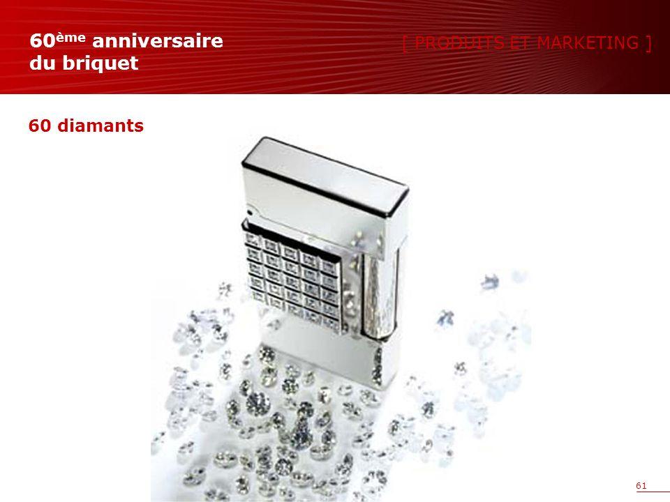61 60 diamants [ PRODUITS ET MARKETING ] 60 ème anniversaire du briquet