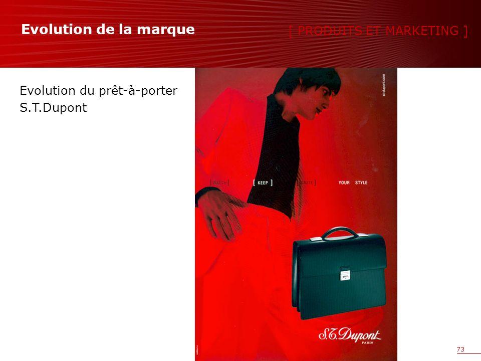 73 Evolution du prêt-à-porter S.T.Dupont [ PRODUITS ET MARKETING ] Evolution de la marque