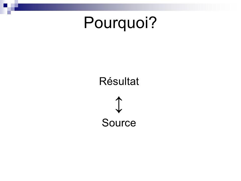 Pourquoi Résultat Source