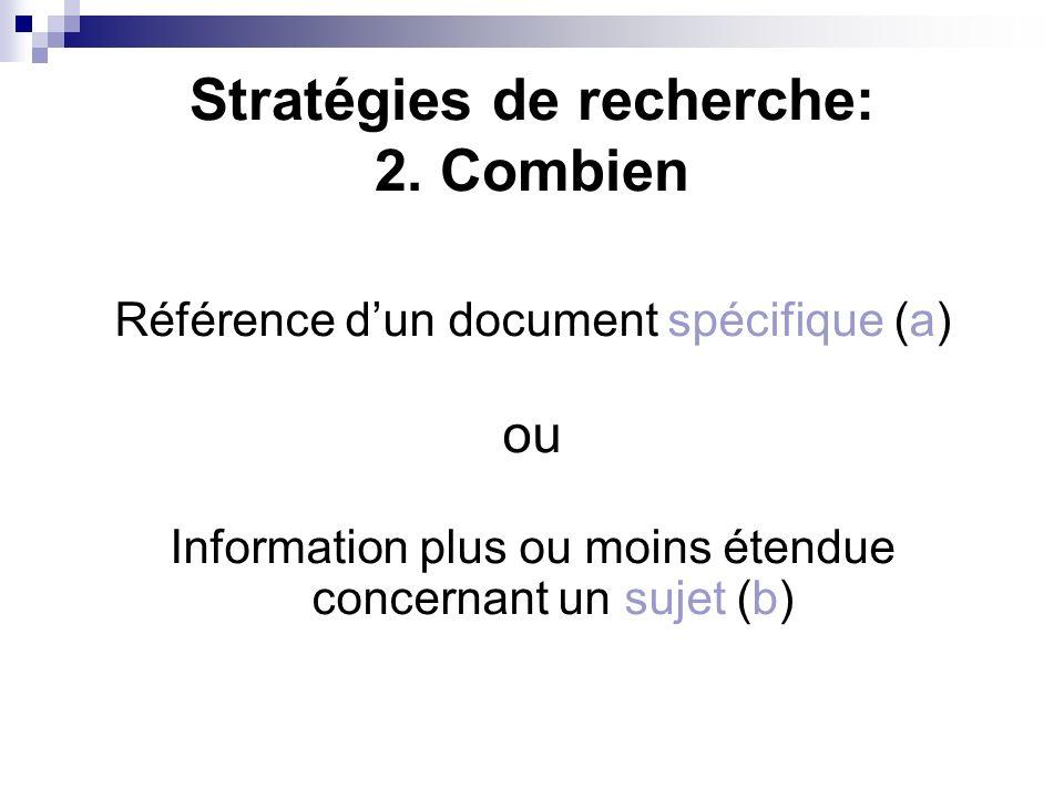 Stratégies de recherche: 2.