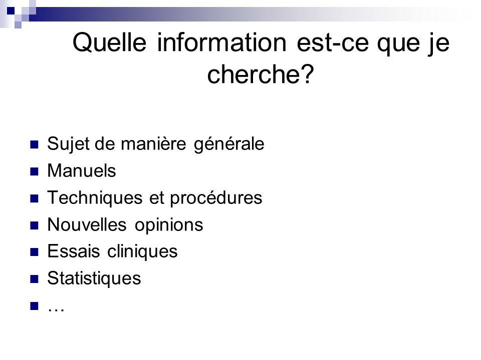 Remarques Nutilisez que langlais, même si vous ne cherchez que des documents en français Commencez avec lessentiel, continuez en étapes logiques Pensez aux synonymes, faites attention à lorthographe Évitez les phrases et mots clés très complexes Attention: utilisation de « not » peut jeter le pertinent ensemble avec linutile