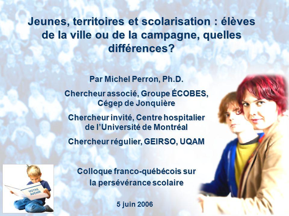 Groupe ÉCOBES, Cégep de Jonquière Par Michel Perron, Ph.D.