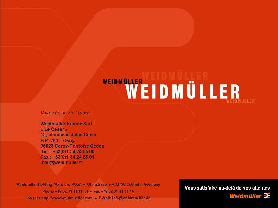 Avril 2005 Weidmüller Holding AG & Co.