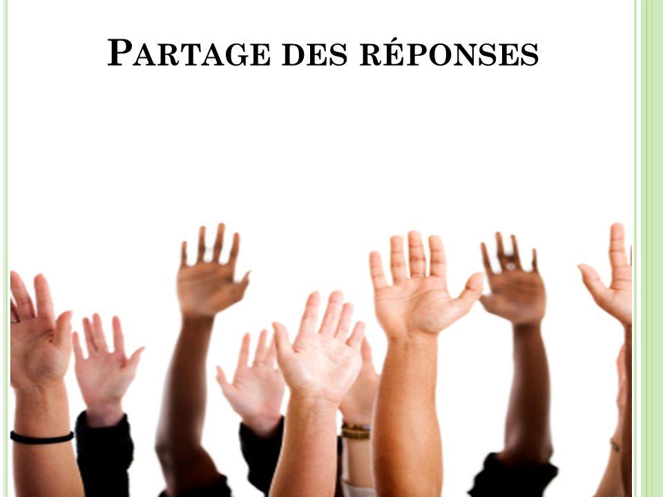 P ARTAGE DES RÉPONSES 12 minutes