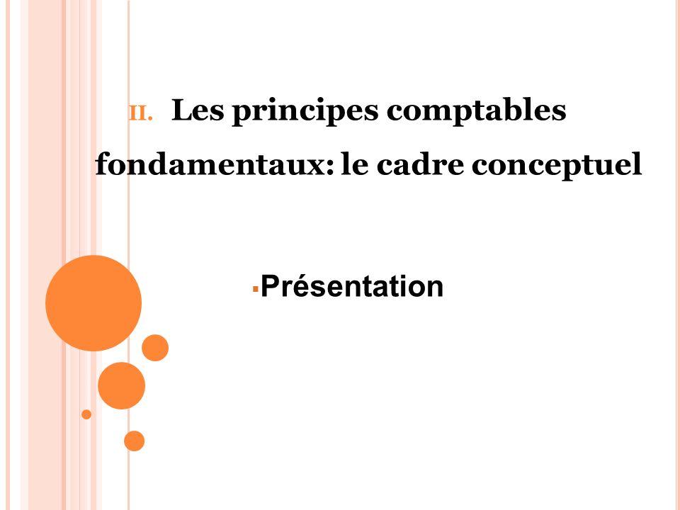 II. Les principes comptables fondamentaux: le cadre conceptuel Présentation