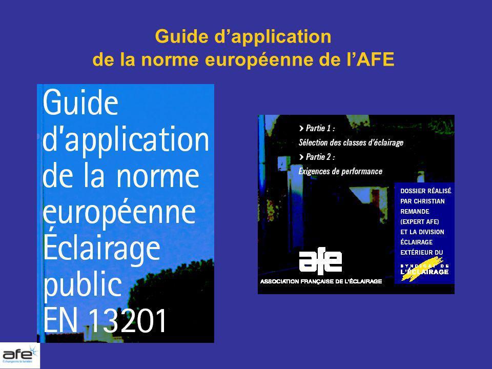 Guide dapplication de la norme européenne de lAFE