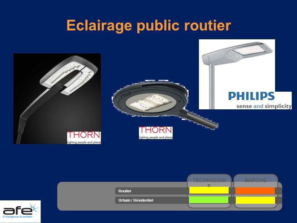 Eclairage public routier TECHNOLOGI E MARCHE Routier Urbain / Résidentiel