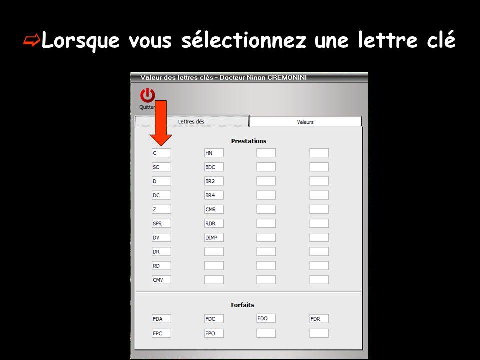 Un clic bouton droit Fenêtre permettant de spécifier ou de modifier les paramètres SESAM-Vitale correspondants