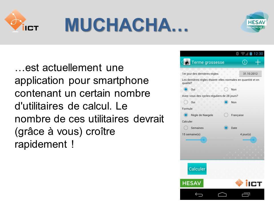 MUCHACHA… …est actuellement une application pour smartphone contenant un certain nombre d'utilitaires de calcul. Le nombre de ces utilitaires devrait