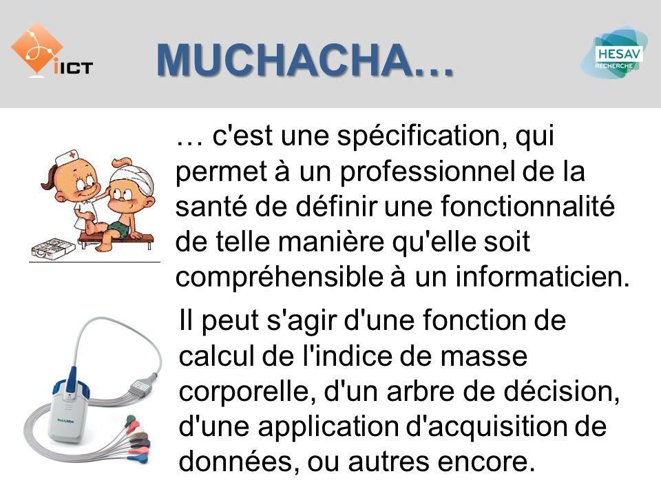 MUCHACHA… … c'est une spécification, qui permet à un professionnel de la santé de définir une fonctionnalité de telle manière qu'elle soit compréhensi