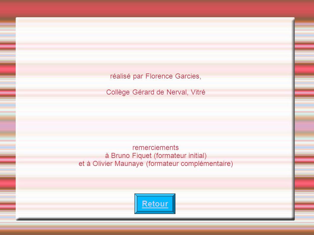 réalisé par Florence Garcies, Collège Gérard de Nerval, Vitré remerciements à Bruno Fiquet (formateur initial) et à Olivier Maunaye (formateur complém