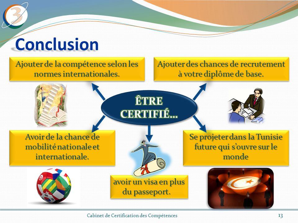 Conclusion 13 Cabinet de Certification des Compétences avoir un visa en plus du passeport.