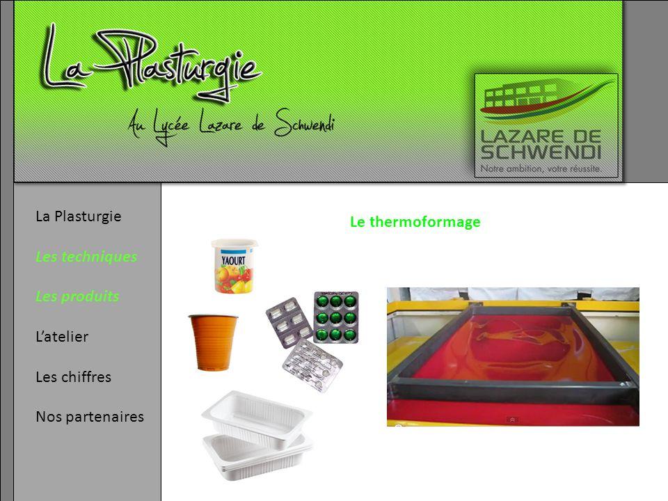 La Plasturgie Les techniques Les produits Latelier Les chiffres Nos partenaires Le thermoformage