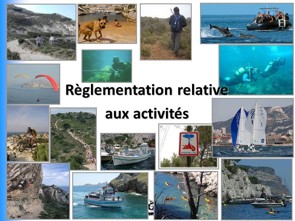Règlementation relative aux activités