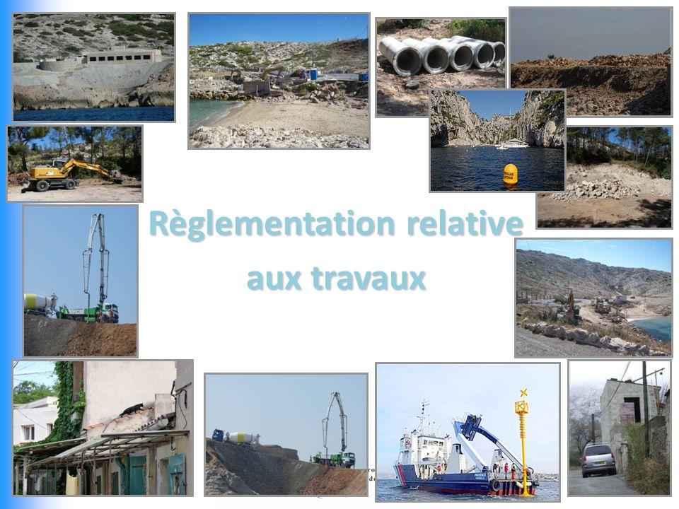 Règlementation relative aux travaux