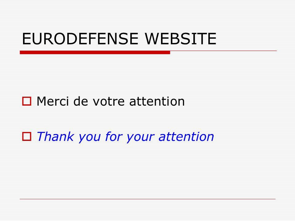 EURODEFENSE WEBSITE Merci de votre attention Thank you for your attention