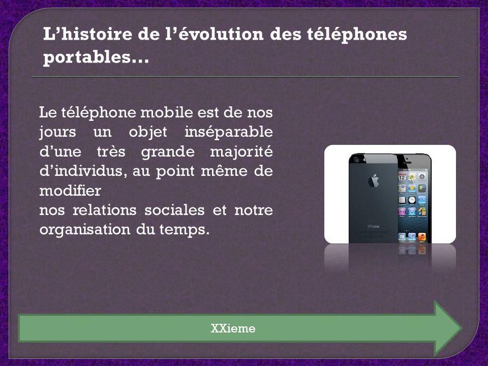 XXieme Le téléphone mobile est de nos jours un objet inséparable dune très grande majorité dindividus, au point même de modifier nos relations sociale