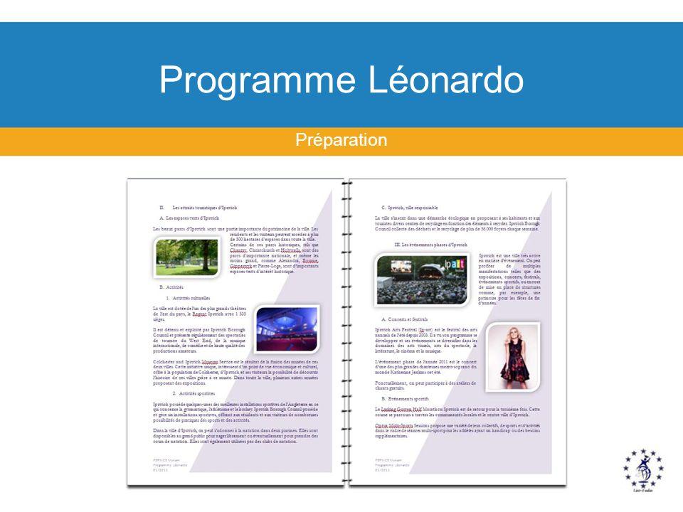 Programme Léonardo Préparation