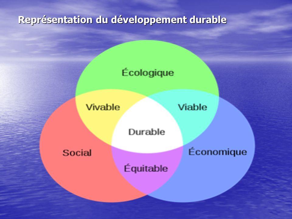 Développement durable:les nouvelles règles Une implication dans les 3 domaines du DD:environnement,économie et social Une implication dans les 3 domai