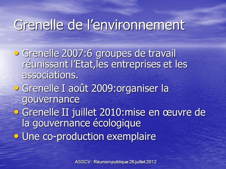 ASSCV : Réunion publique 26 juillet 2012 Limpulsion internationale Vingtième anniversaire des accords internationaux 1992-2012 Vingtième anniversaire