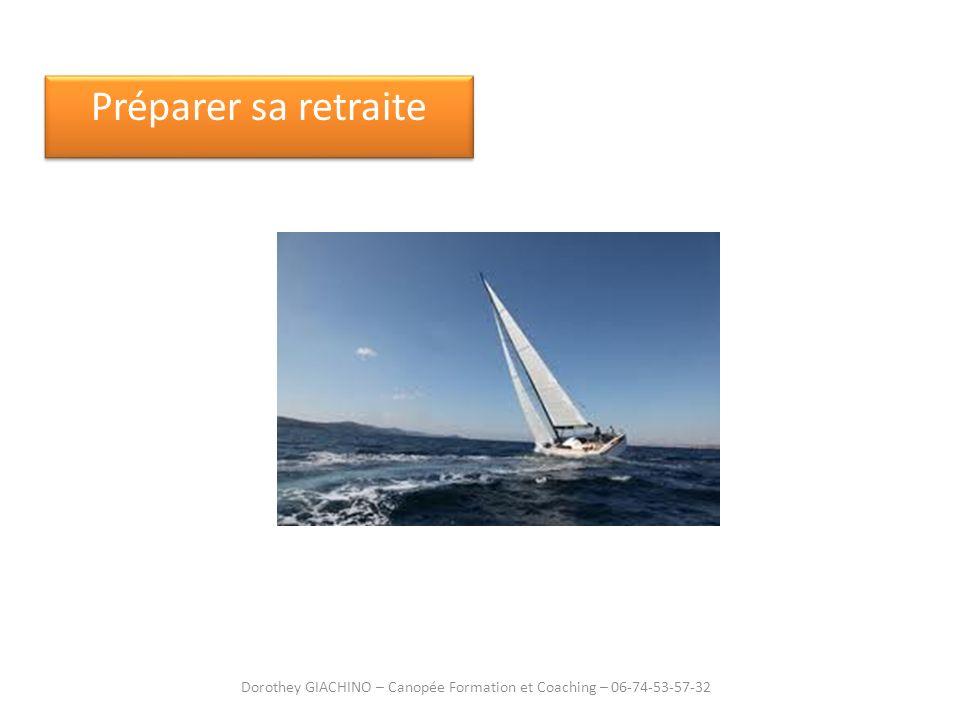 Préparer sa retraite Dorothey GIACHINO – Canopée Formation et Coaching – 06-74-53-57-32