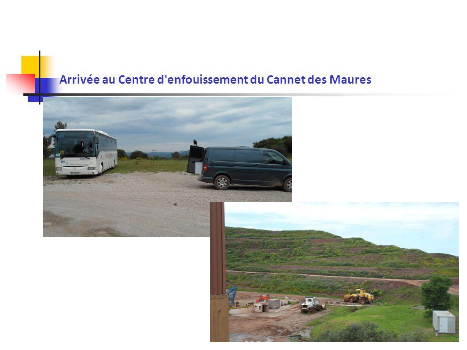 Arrivée au Centre d'enfouissement du Cannet des Maures