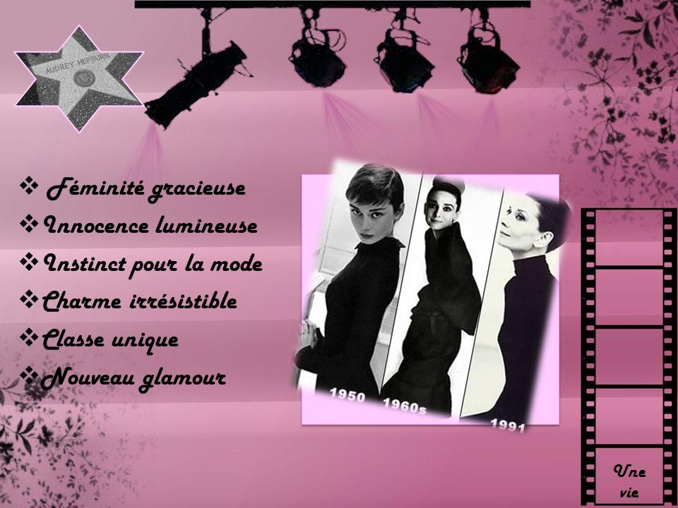 Une vie Féminité gracieuse Innocence lumineuse Instinct pour la mode Charme irrésistible Classe unique Nouveau glamour