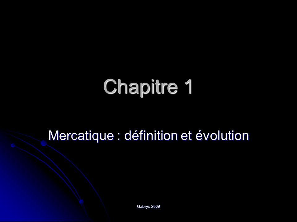 Chapitre 1 Mercatique : définition et évolution