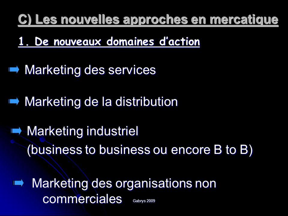 Gabrys 2009 2) De nouveaux moyens daction Buzz marketing Street marketing Trade marketing Marketing sensoriel Neuro marketing Marketing ethnique Géomarketing Marketing éthique