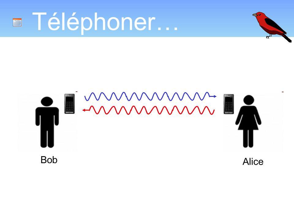 Téléphoner… Bob Alice