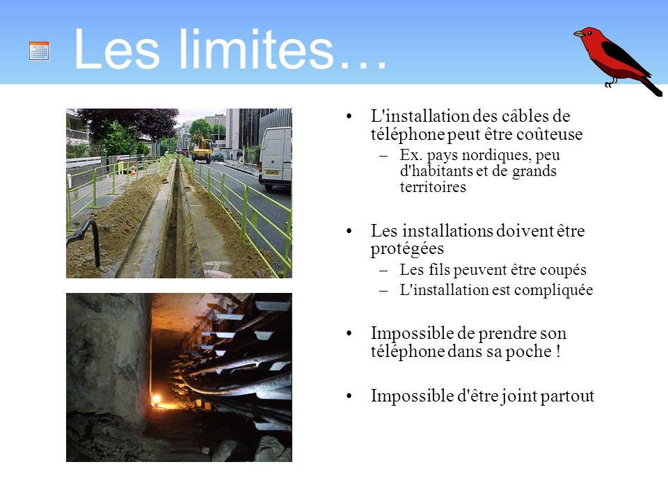 Les limites… L installation des câbles de téléphone peut être coûteuse –Ex.